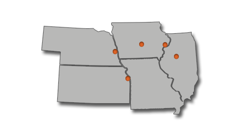 Allied Construction Services Locations Map